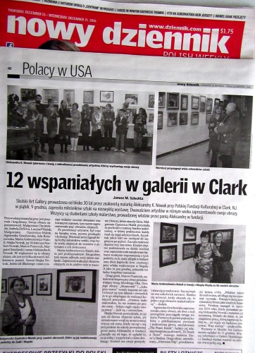Review by Janusz Sz. after  a Group Exhibition in Clark 2016