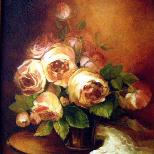 Roses Oil Canvas 20 x 16 inch NFS 2009
