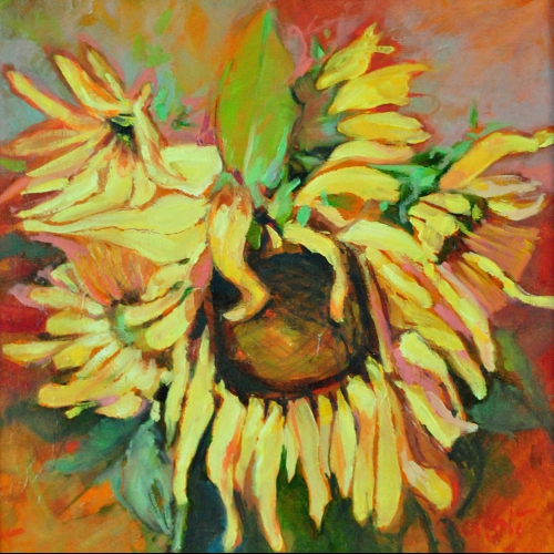 Sunflower I 12x12 Oil Canvas 2017