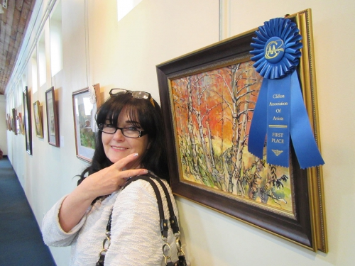Art painting and Blue Ribbon on celebration 100th Anniversary of Clifton City 2017