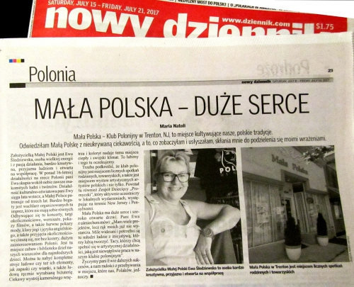 Review  by Natoli at Polish Daily News after visiting in Mala Polska Polonia Club, Trenton New Jersey 2017