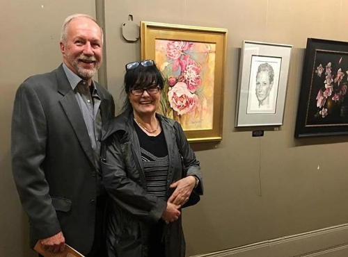 With Carl Holst President of Ridgewood ARt Institute, Ridgewood New Jersey 2018