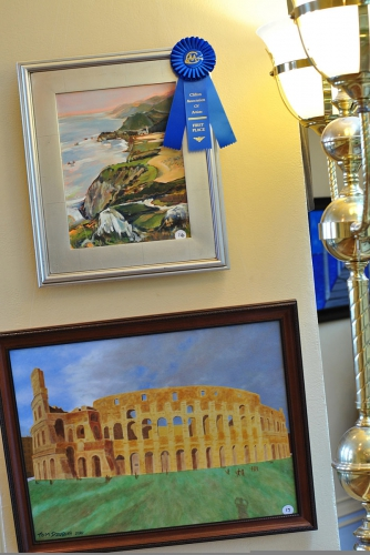 Blue Ribbon Award the 1st Place on Fall Art Show at  Lambert Castle Museum,  Clifton NJ 2018